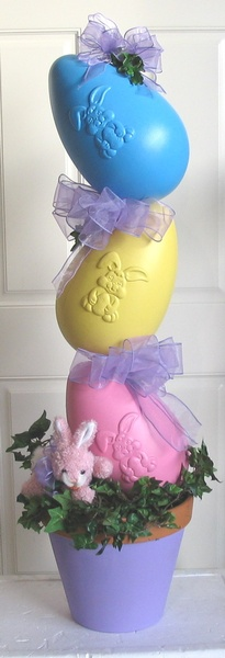 Easter Eggs-Large Plant Stand -   To Order the Plant Stand: Click on ''Highlights'' then ''Plant Stands''