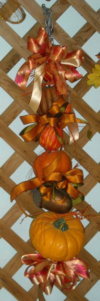 Gourds on a Hanger - To Order the Hanger Click on ''Highlights'' then ''Plant Hangers''