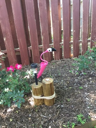 Small Flamingo; 22'', Outdoor Solar Light