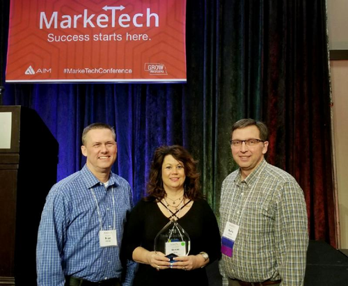 Cooper's Best Accepting the Russ's Market 2018 Best Nebraska Local Product Award