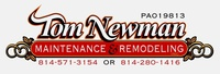 Tom Newman Maintenance and Remodeling Inc.