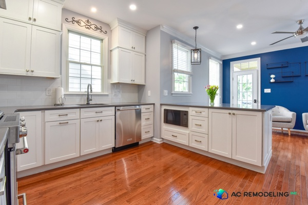 Dazzling White Kitchen