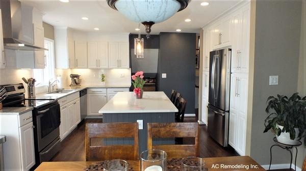 White & Grey Kitchen Cabinets