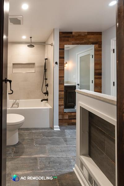 Rustic Hall Bath Transformation