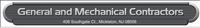 General & Mechanical Contractors, Inc.