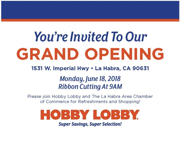 Hobby Lobby - La Habra | Home decor & Accessories | Retail | Gifts