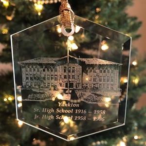 Picture of Yankton High School Glass Ornament