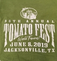 Picture of Tomato Fest Green Pre-Sale T-Shirt large size only