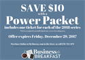 Picture of Business@Breakfast Power Ticket Packet