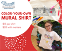 Picture of Color-Your-Own Mural T-Shirt w/ Fabric Markers