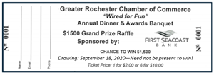 Picture of 2020 Annual Banquet Raffle Ticket