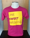 Picture of Kids One Sweet Weekend T-Shirt - Pink