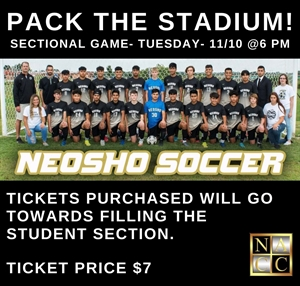 Picture of Neosho Soccer Sectionals Student Ticket