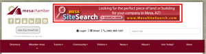 Picture of Mesachamber.org Banner Ad: Top of Website: 3 Month