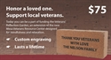 Picture of Veterans' Reflection Garden- Engraved Stone