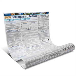 Picture of 2018 Employment Law Poster (tax + shipping included)