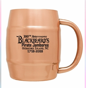 Picture of 2018 Blackbeard's Pirate Jamboree Moscow Mule Barrel Mug (14 Oz.)