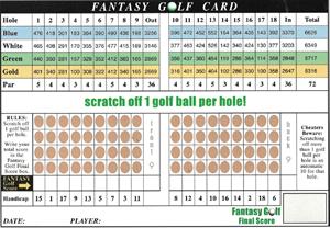 "Picture of Fantasy Golf ""Scratcher"