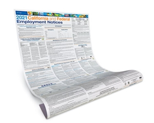 Picture of  2021 California Employment Law Poster- Paper (English/Spanish)