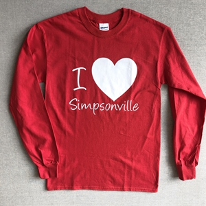 Picture of Long Sleeve Red Tee with Big Heart