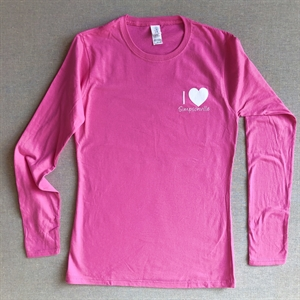 Picture of Ladies Pink Long Sleeve Tee