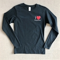 Picture of Ladies Black Long Sleeve Tee