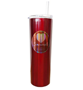 Picture of Red 20oz. Stainless Tumbler