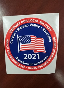 Picture of 2021 Support Our Local Military window decals