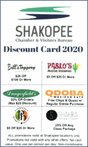 Picture of Shakopee Chamber Discount Card