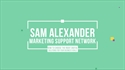 Picture of MSM Video Session 5: Sam Alexander