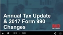 Picture of Annual Tax Update & 2017 Form 990 Changes