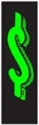 Picture of 7 1/2' Chartreuse/Black $ Sign -