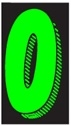 Picture of 7 1/2' Chartreuse/Black 0 Number
