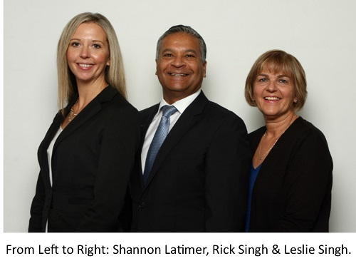 From Left to Right: Shannon Latimer, Rick Singh & Leslie Singh.