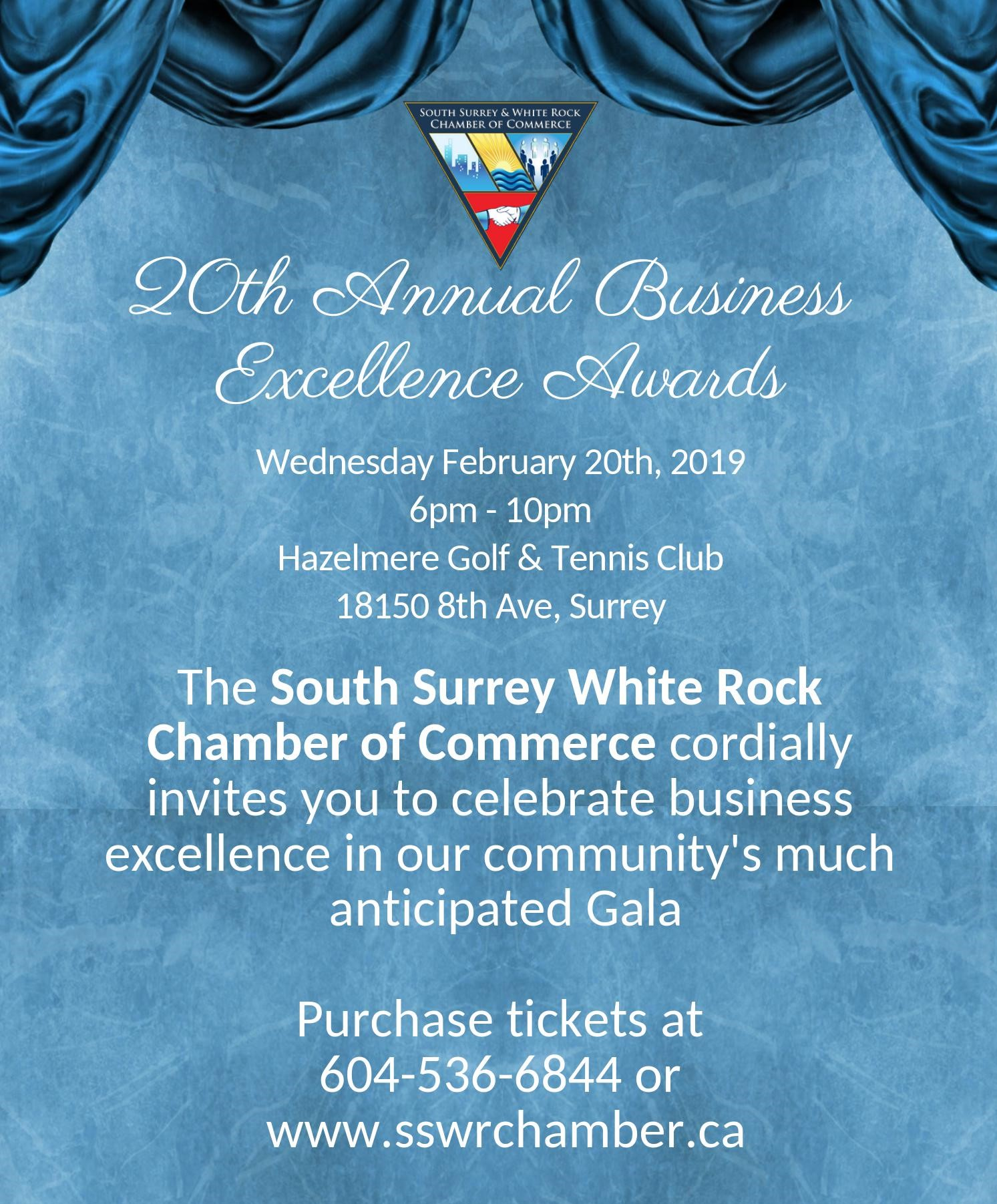 20th Business Excellence Awards poster