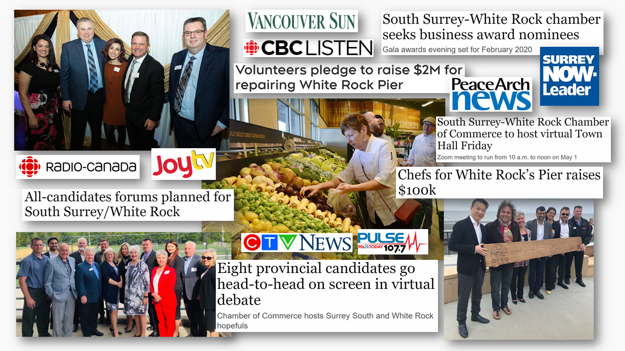 South Surrey and White Rock Chamber of Commerce in the news