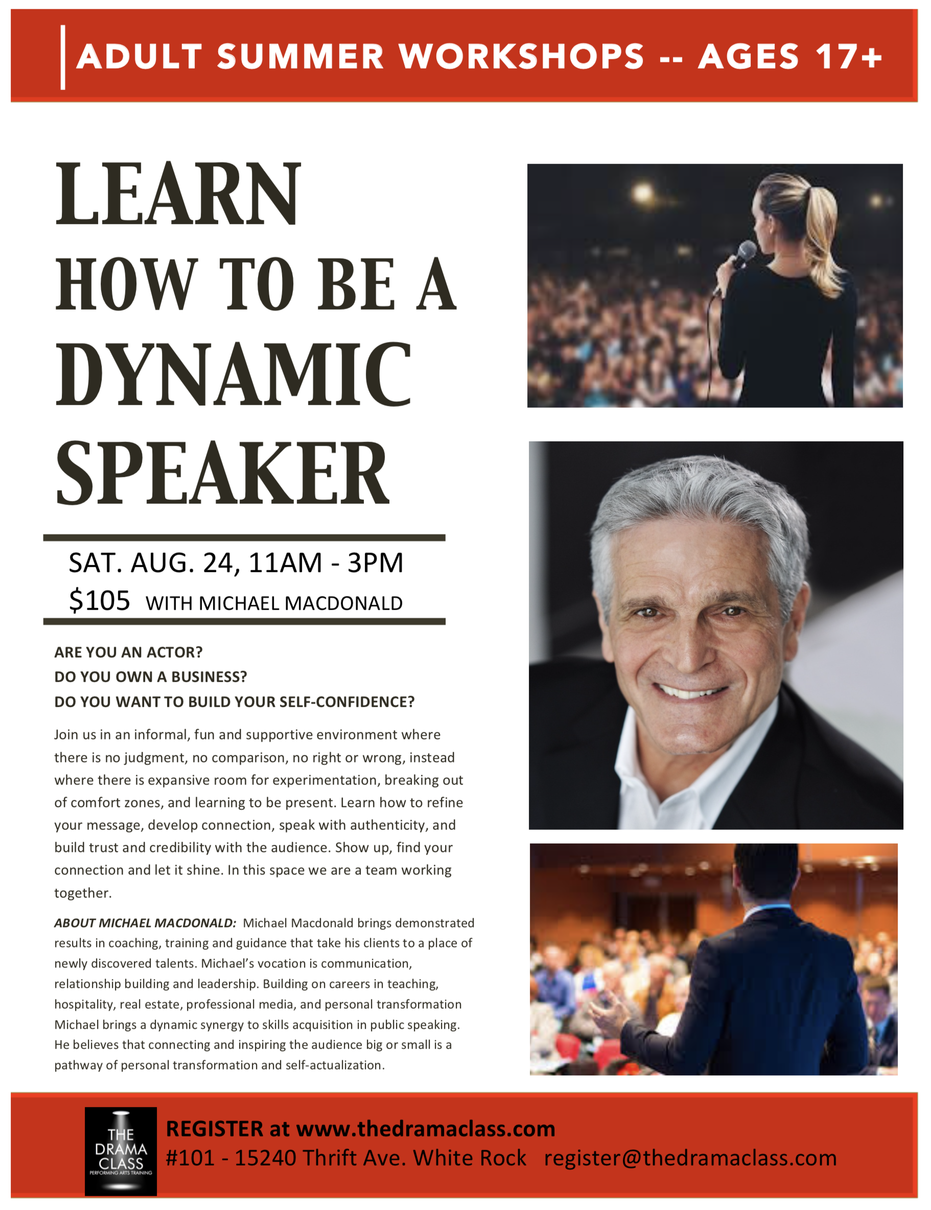 Learn How to Be a Dynamic Speaker with Michael Macdonald