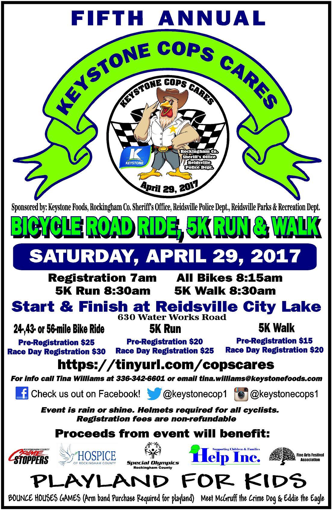 Keystone Cops Cares @ Lake Reidsville | Reidsville | North Carolina | United States