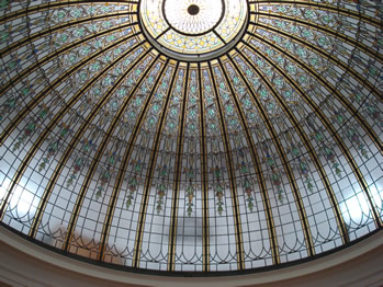 Bixby Library stained glass dome