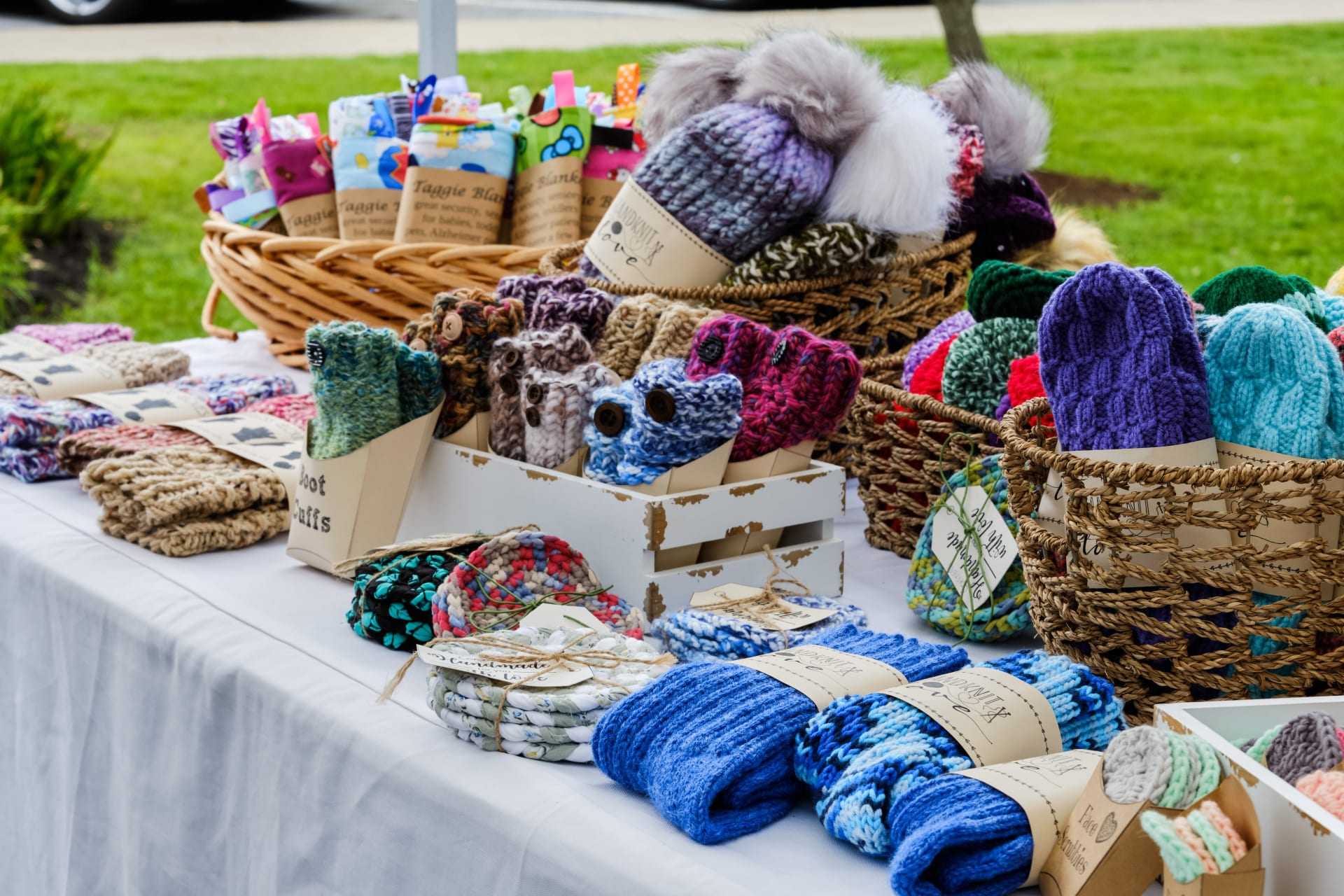 craft vendor booth at 2019 Vergennes Day