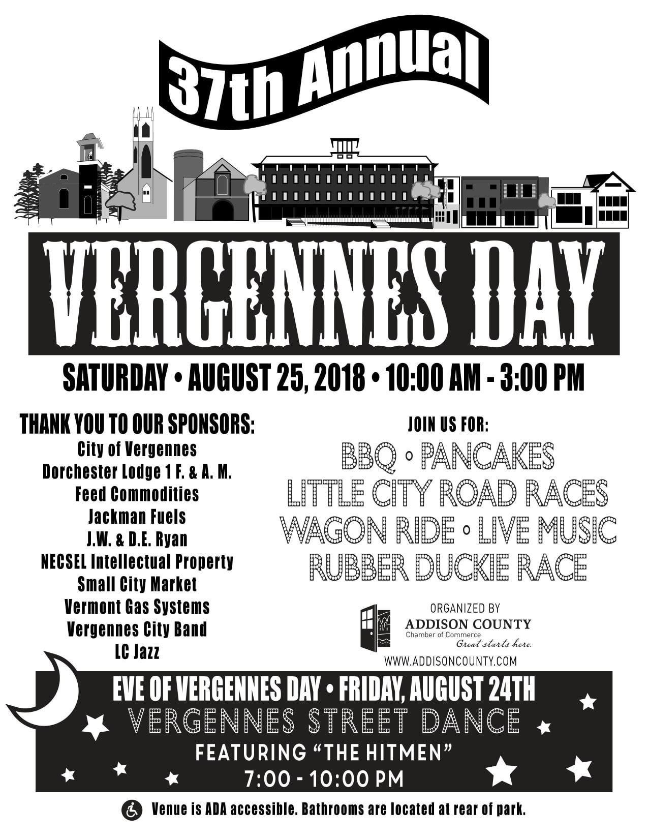Vergennes Day Schedule of Events 2018 Vergennes, VT