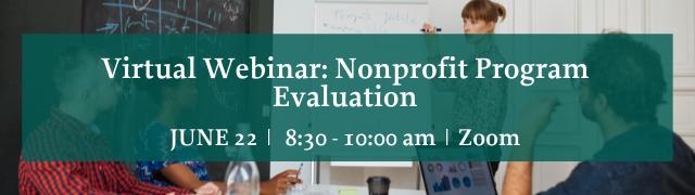 Addison County Chamber Virtual Webinar Nonprofit Program Evaluation June 22, 2021