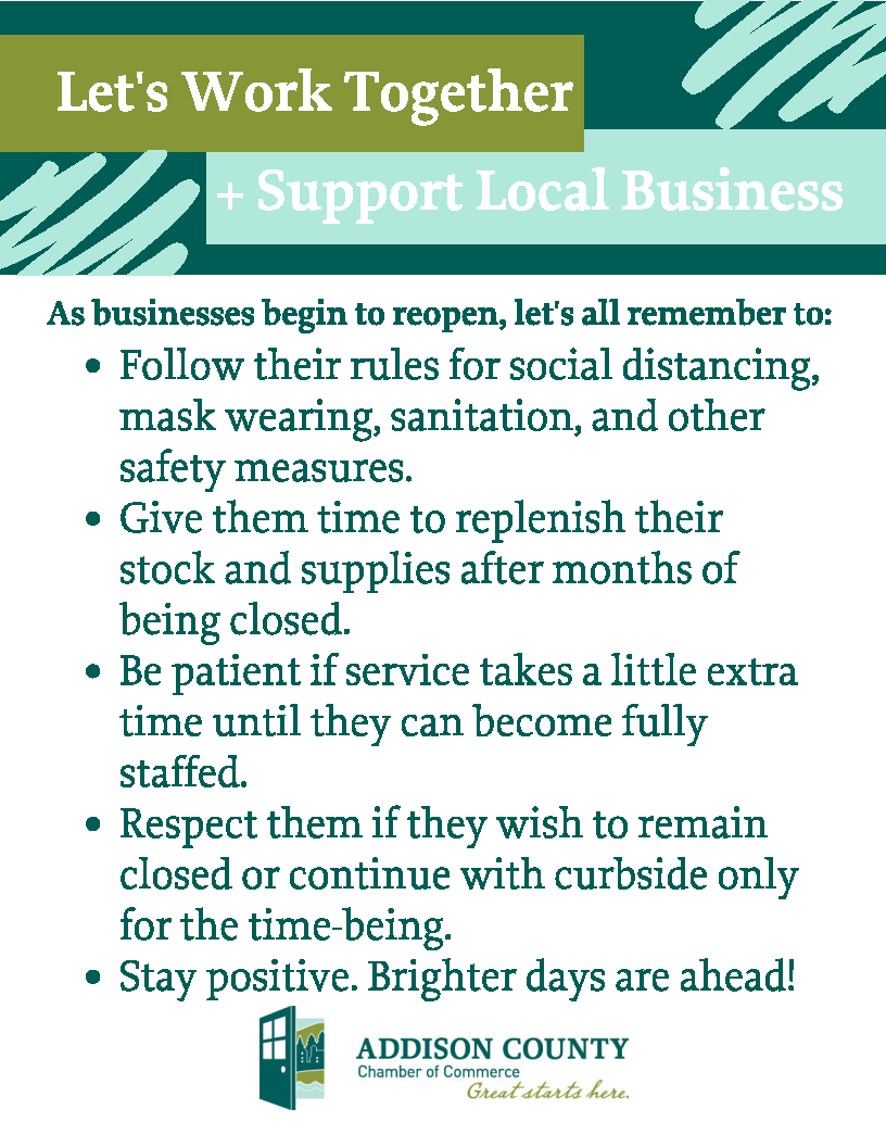 Let's work together to support local businesses