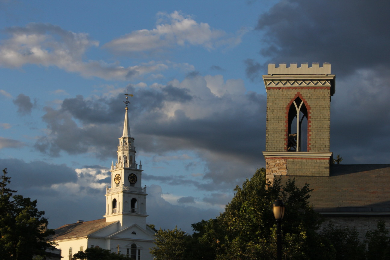 Middlebury Church steeples