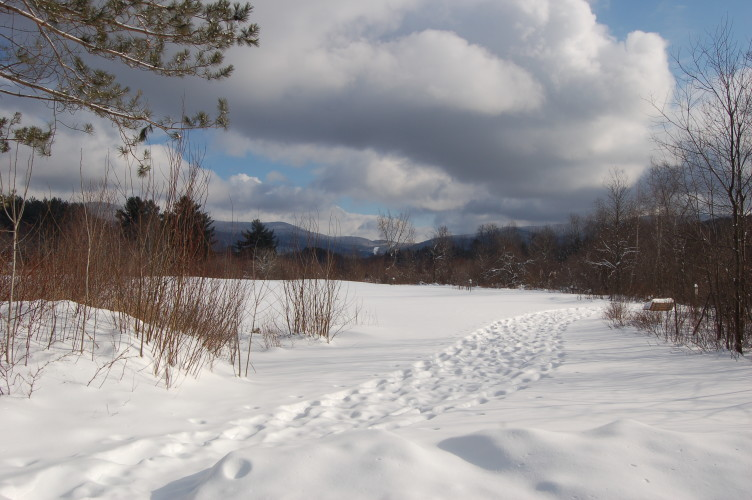 Winter hike on the Robert Frost Interpretive trail, Ripton, Vermont