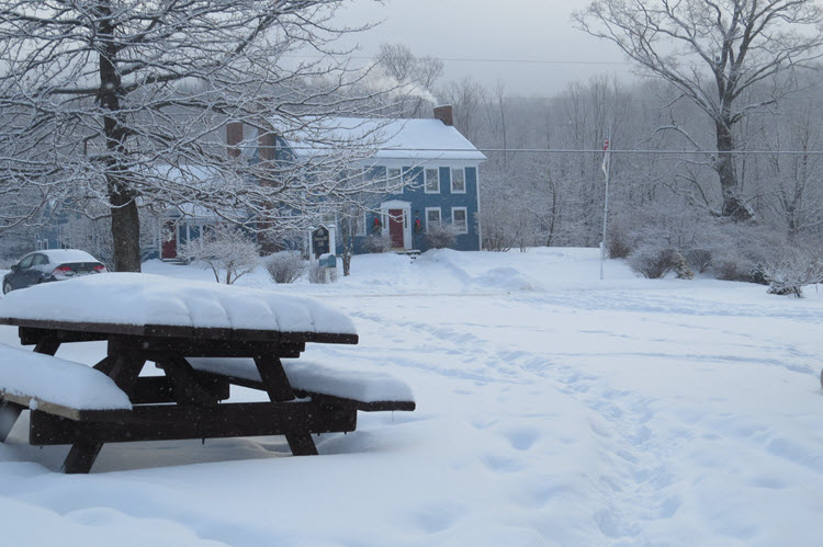 Blueberry Hill Inn Goshen winter
