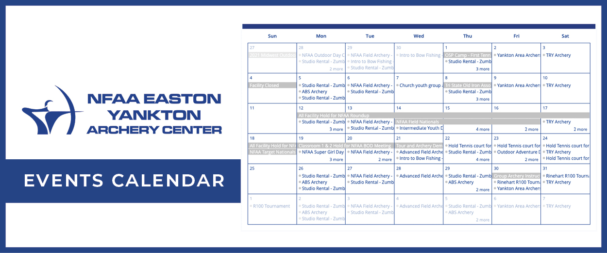 NFAA Easton Yankton Archery Center Events Calendar