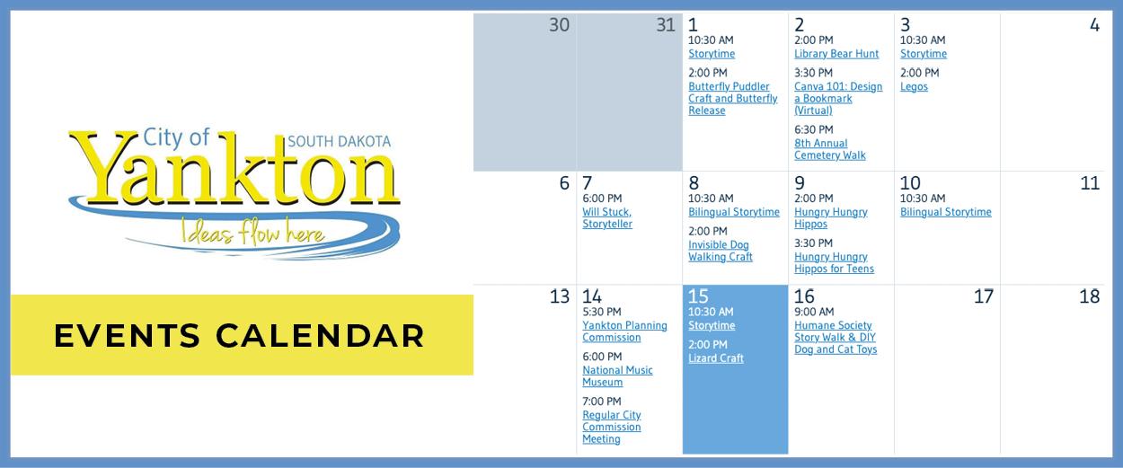 City of Yankton Calendar