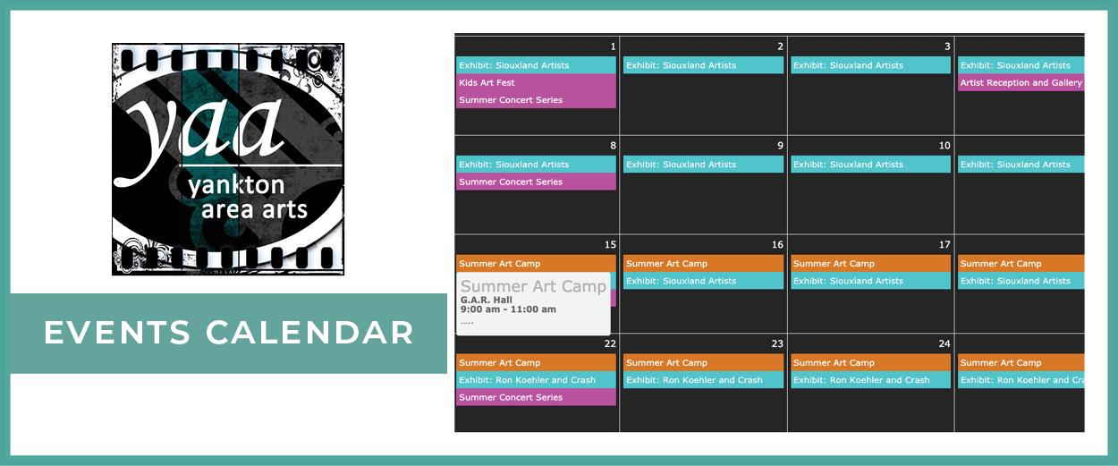 Yankton Area Arts Events Calendar