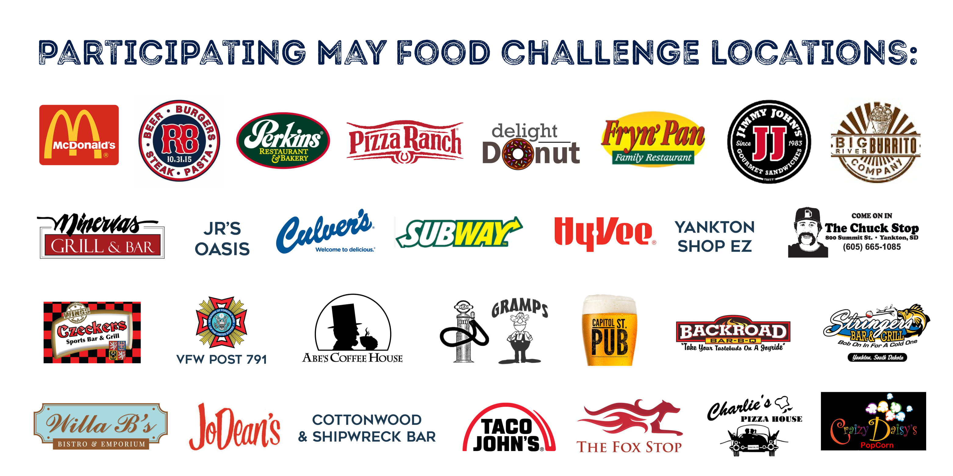 May Participating Eateries
